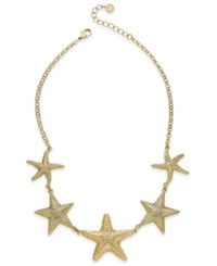 Charter Club Gold Tone Starfish Collar Necklace Only At Macy's