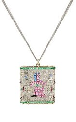 Renee Lewis Women's Egyptian Goddess Necklace Colorless
