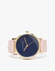 The Horse Brushed Gold Musk Band Watch Gold Navy Musk