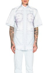 Givenchy Jesus Print Short Sleeve Shirt In Blue