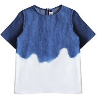 Florence Bridge Dip Dye Denim T Shirt Blue