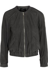 Isabel Marant Vatelle Perforated Suede Bomber Jacket