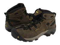 Keen Utility Detroit Mid Brindle Bronze Green Men's Work Boots Taupe