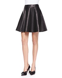 Kate Spade Leather Flare Circle Skirt Black Women's