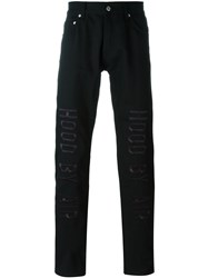 Hood By Air Embroidered Logo Trousers Black
