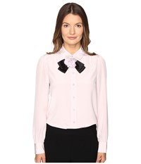 Kate Spade Rosette Bow Silk Shirt Plumdawn