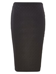Louche Larue Lace Pencil Skirt Black
