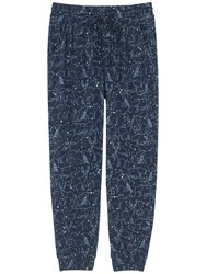 Fat Face Constellation Cuffed Pyjama Bottoms Navy