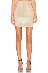 Mlv Natalie Sequin Pencil Skirt Metallic Gold
