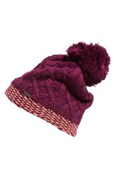 Women's Lole Cable Knit Beanie Purple Dark Purple