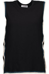 Opening Ceremony Cutout Stretch Cotton Jersey Top Black