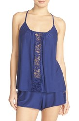 Women's In Bloom By Jonquil Camisole And Shorts Pajamas Navy