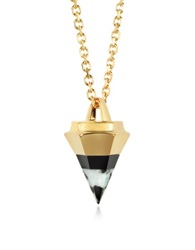 Vita Fede Rose Gold Plated Thea Stone Necklace W Onyx