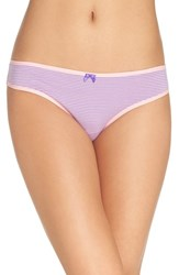 Betsey Johnson Women's Hipster Bikini Briefs Mini Stripe Charming Pink
