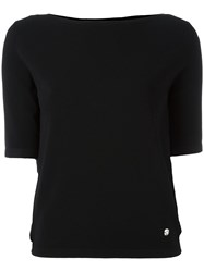 Versus Shortsleeved Boat Neck Blouse Black