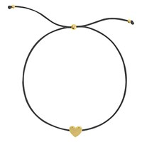 Sophie By Sophie Heart Cord Friendship Bracelet Gold Black