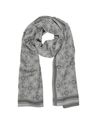 Tory Burch The Traveler Double T Logo Mosaic Jacquard Silk Wool Blend Stole Sand