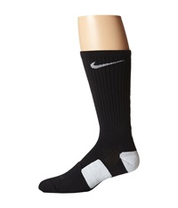 Nike Elite Basketball Crew Black White White Crew Cut Socks Shoes