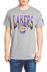 Mitchell And Ness Men's Lakers Graphic T Shirt