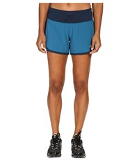 New Balance Impact 4 2 In 1 Shorts Castaway Galaxy Women's Shorts Blue