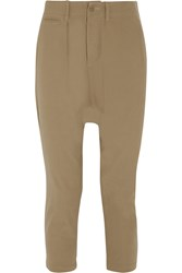 Nlst Cropped Cotton Twill Tapered Pants Nude