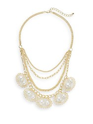 Saks Fifth Avenue Layered Chain Necklace Gold