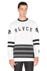 Black Scale Scale Of Black Hockey Jersey White
