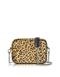 Zadig And Voltaire Xs Boxy Leo Hair Calf Crossbody Bag Lemon