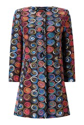 James Lakeland Embroidered Coat Multi Coloured