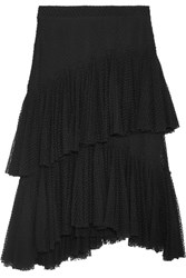 Philosophy Di Lorenzo Serafini Ruffled Point D'esprit Cotton Blend Skirt Black