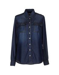 Dirk Bikkembergs Sport Couture Denim Denim Shirts Women Blue