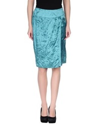 Diana Gallesi Knee Length Skirts Green