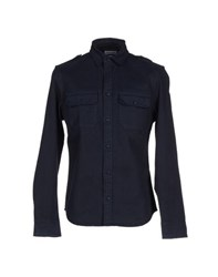 Cooperativa Pescatori Posillipo Denim Denim Shirts Men Blue