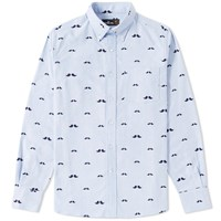 Mr. Bathing Ape Pattern Oxford Shirt Blue