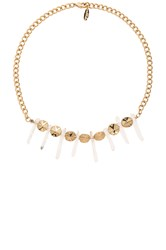 Ettika Clear Stone Choker Metallic Gold