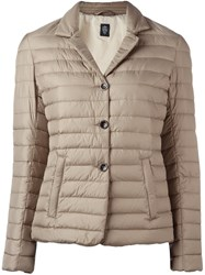 Eleventy Padded Fitted Jacket Nude And Neutrals