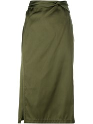 3.1 Phillip Lim Skirt With Knot Detail Green