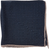 Paolo Albizzati Dash Pocket Square Navy