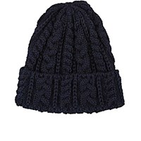 Ca4la Men's Cable Knit Wool Beanie Navy