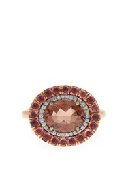 Irene Neuwirth Diamond Tourmaline And Rose Gold Ring Rose Gold