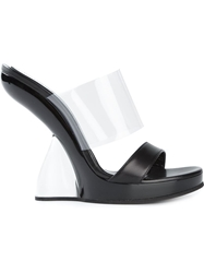 Alexander Mcqueen Wedge Mules Black