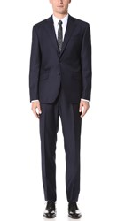 Hardy Amies Clear Cut Twill Brinsley Suit Navy
