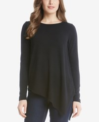 Karen Kane Asymmetrical Hem Sweater Black