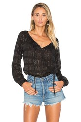 Loveshackfancy Peasant Blouse Black