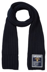 Superdry Super Cable Plain Scarf Navy