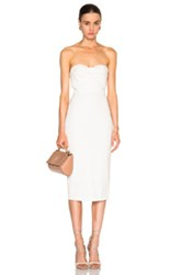 Veronica Beard Edelia Twist Bandeau Bustier Dress In White