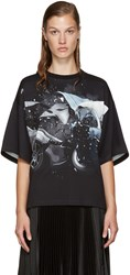 Christopher Kane Black Car Crash T Shirt