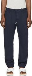 Cnc Costume National Navy Drawstring Trousers
