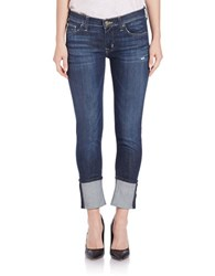 Hudson Jeans Rolled Skinny Jeans Dark Mosai Blue