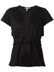 Schumacher Ruched Detail T Shirt Black